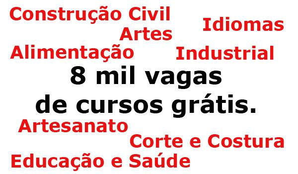 8 mil vagas para cursos profissionalizantes em Recife
